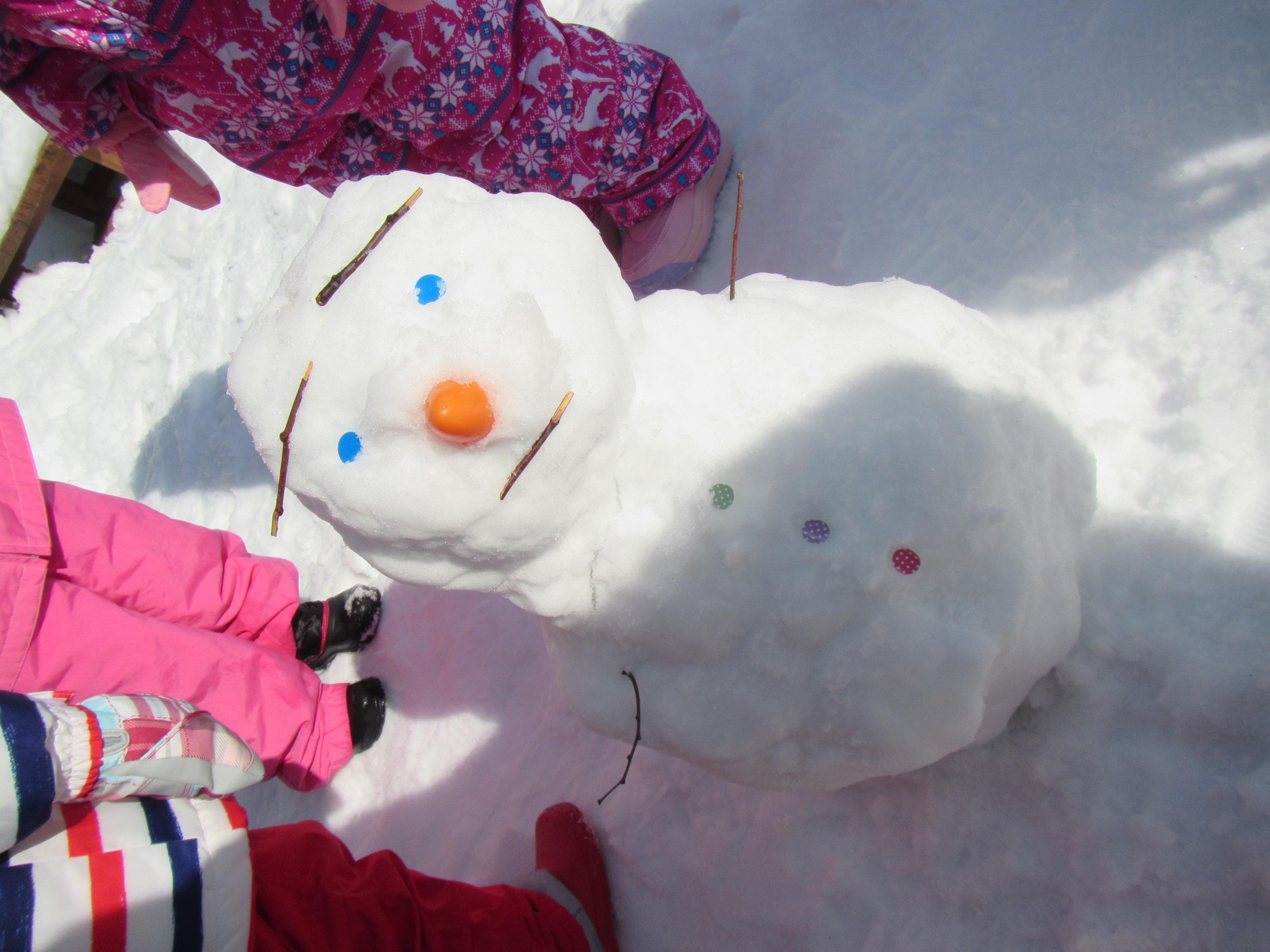 雪遊びをしたよ!
