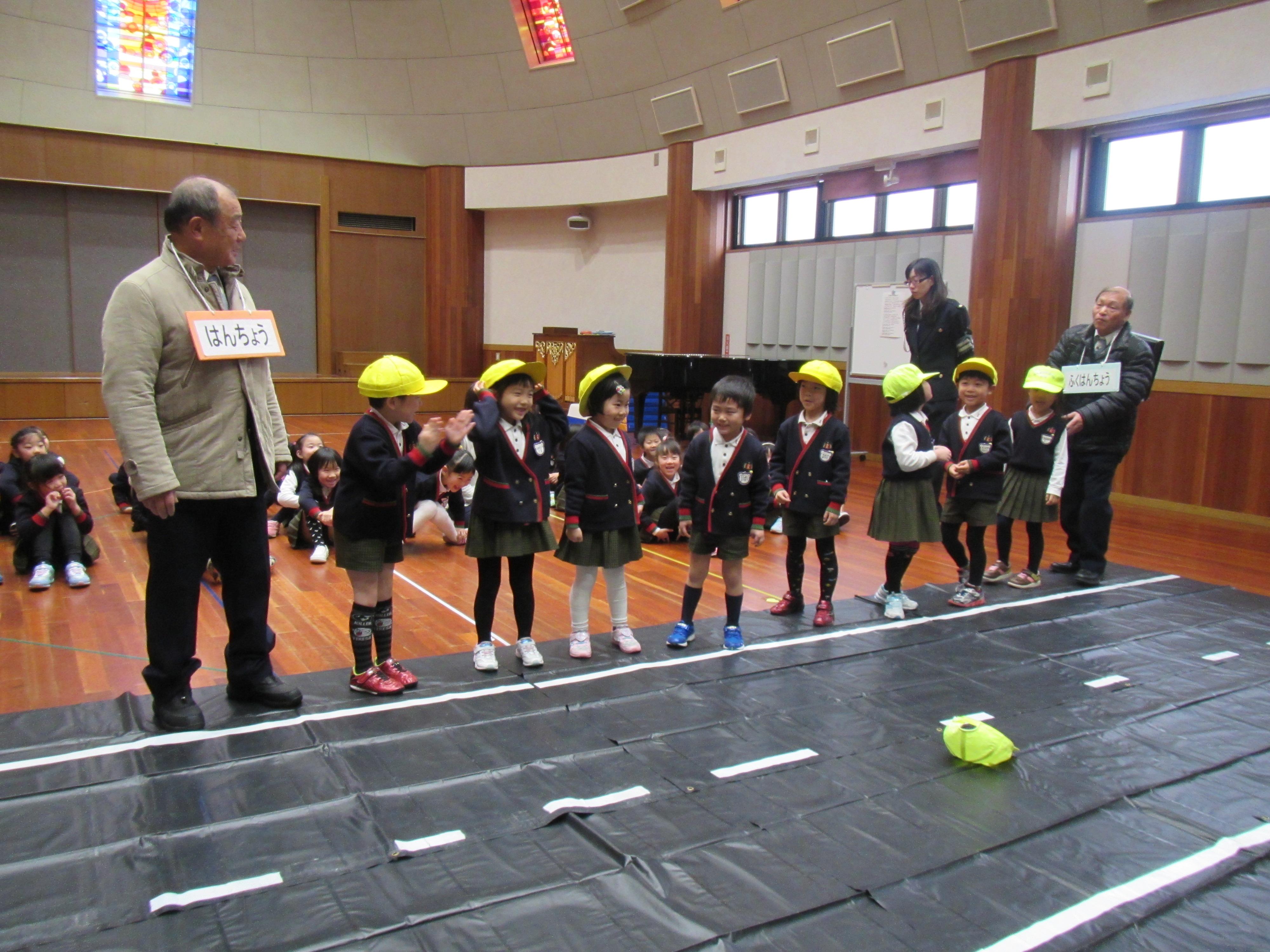 【第二年長組】粟野地区交通安全教室