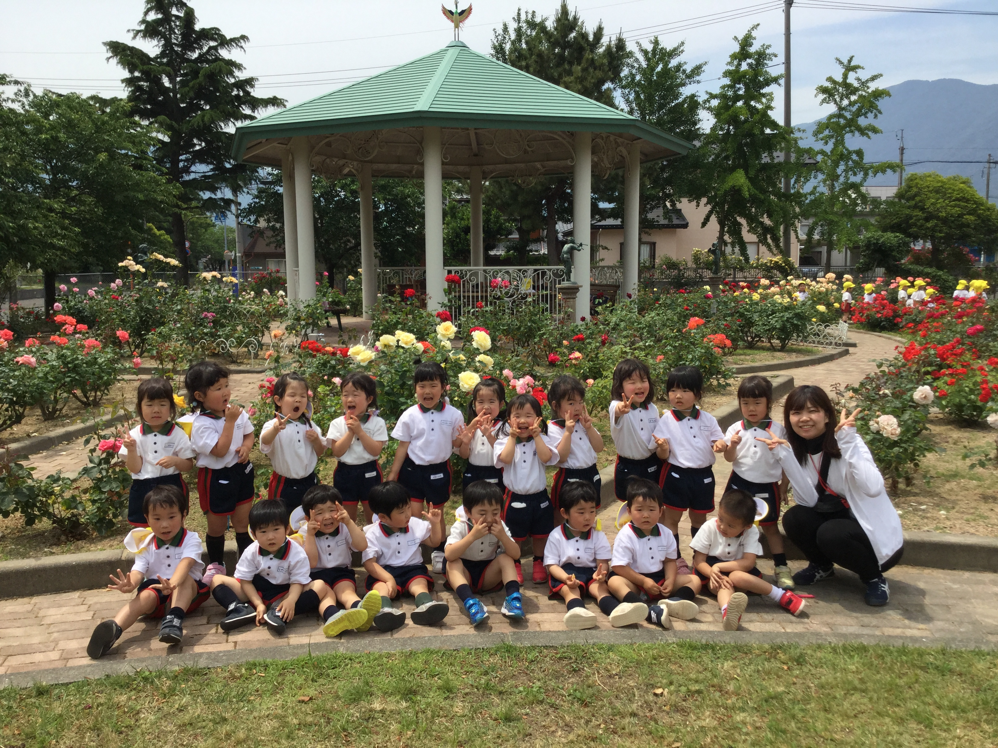 【第二年少組】バラ園散策