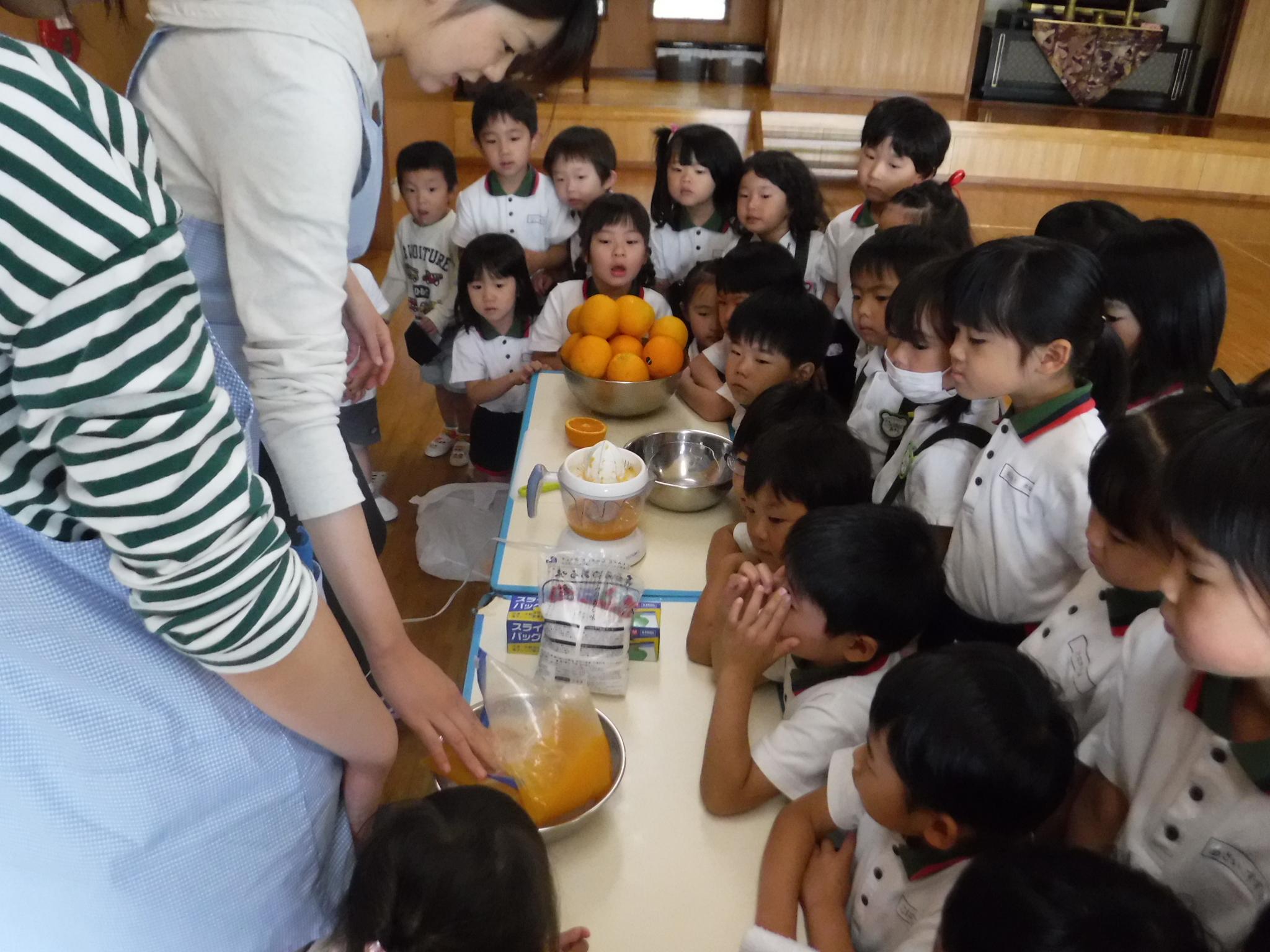 オレンジシャーベットおいしかったね♪(ダイバーシティタイム)