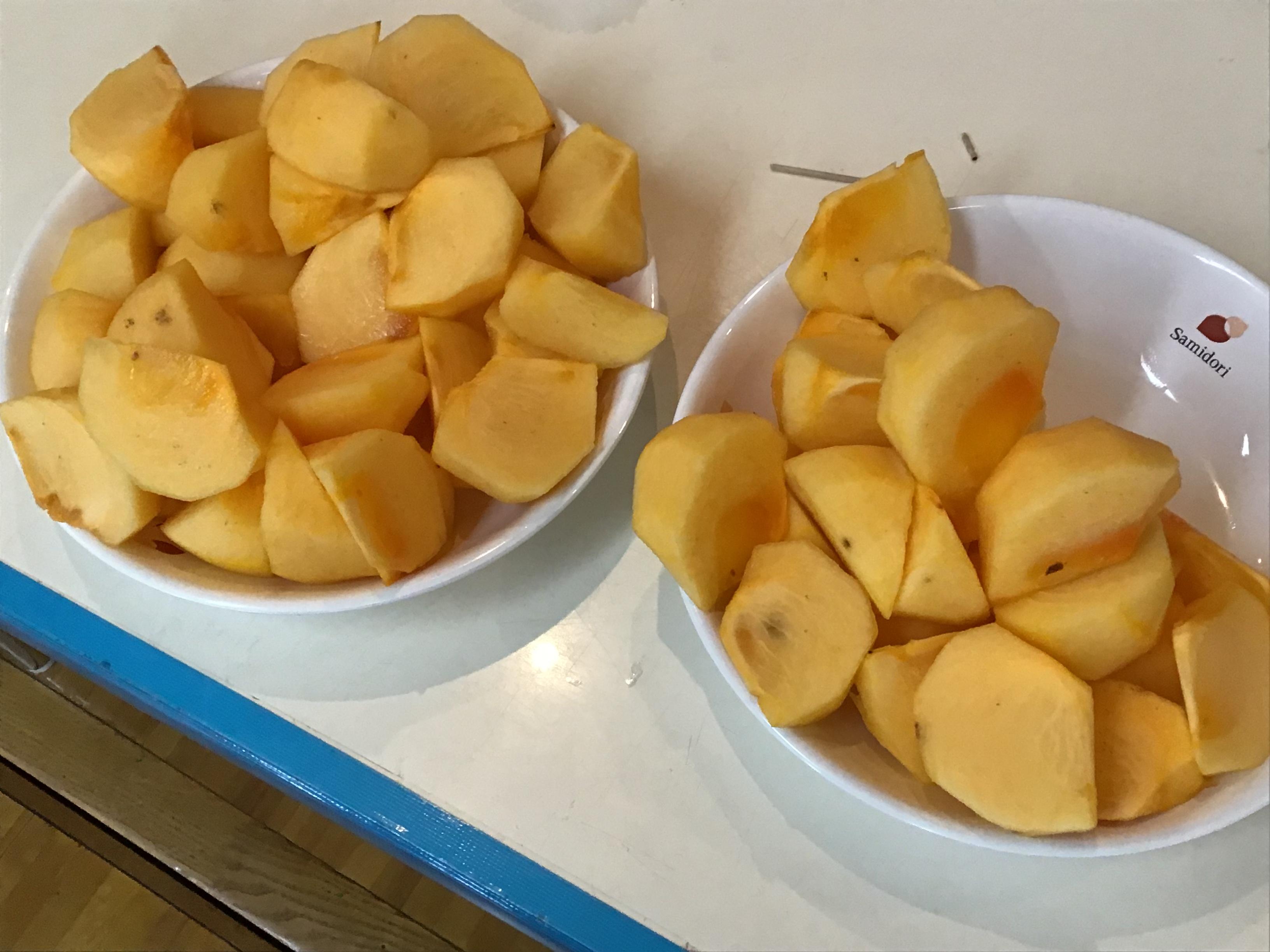 【本町】柿を食べたよ!