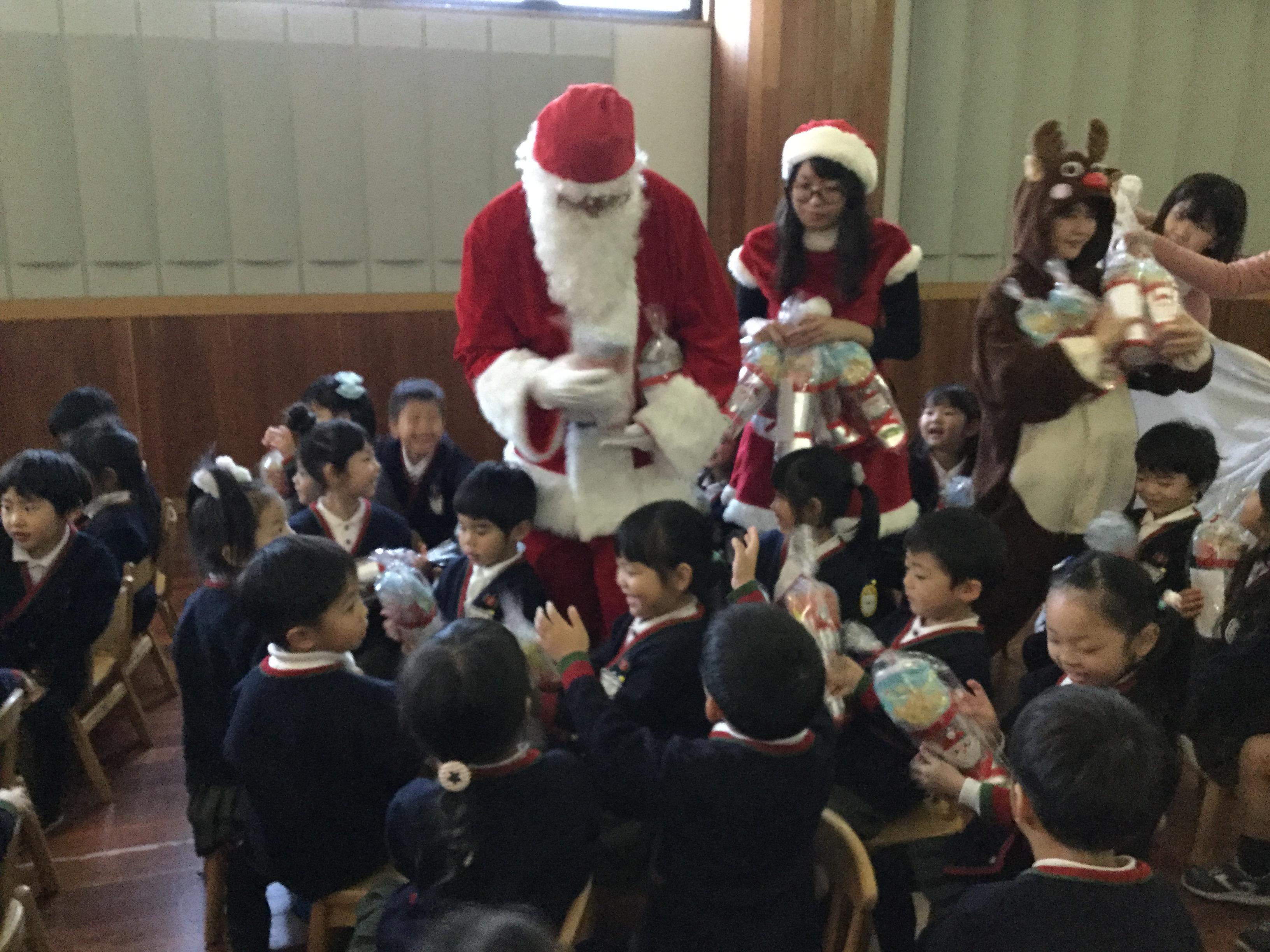 二学期終業式、クリスマス会