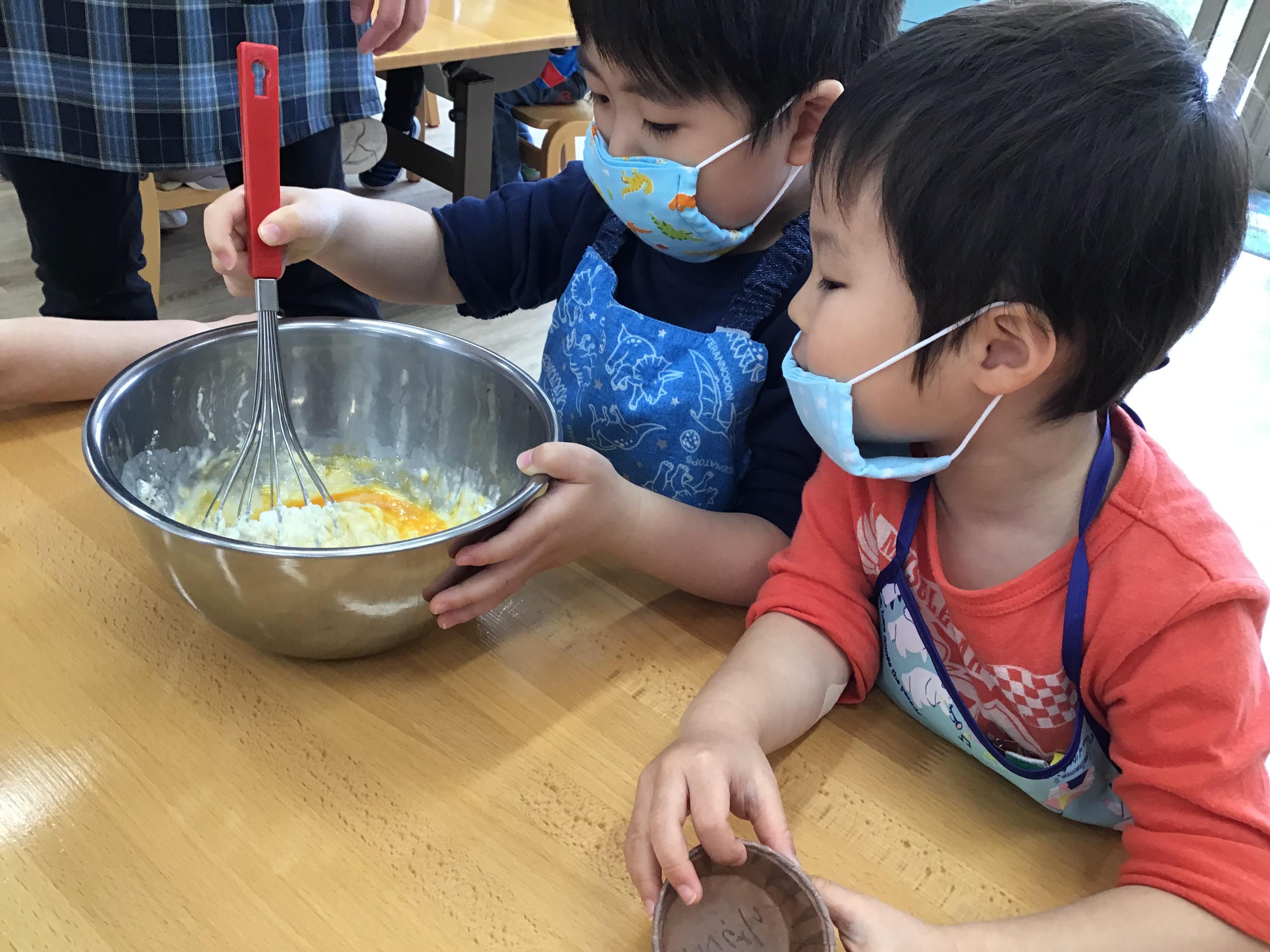 スプリングスクール ジャンボシュウマイと蒸しパン作り